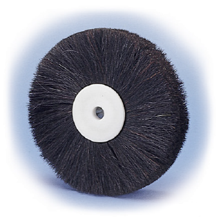 horse hair polishing brush